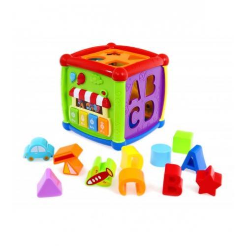 Развивающий куб пластиковый многофункциональный BabyMix 0520