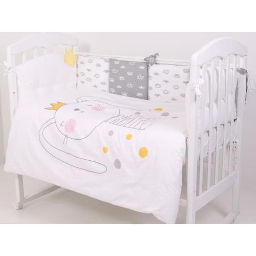 Детское постельное белье Топотушки Зайка с короной 6 предметов