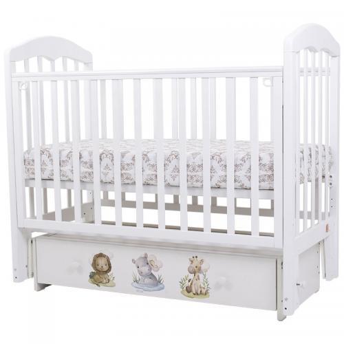 Детская кроватка с универсальным маятниковым механизмом Топотушки Сильвия 7 Малыши (арт.83)