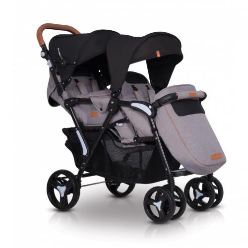 Детская прогулочная коляска для двойни EasyGo Fusion 2019