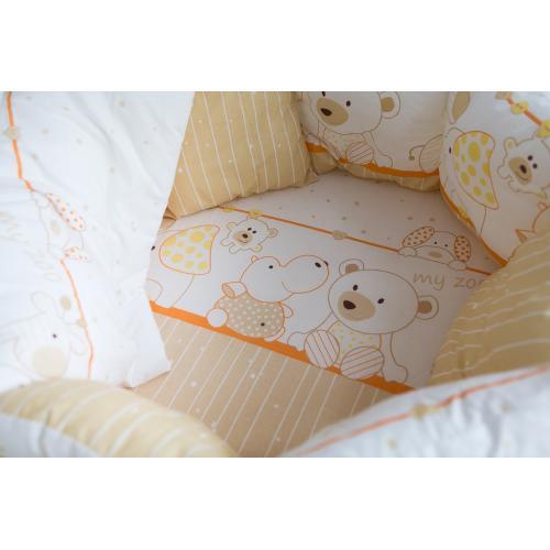 Детское постельное белье в круглую/овальную кроватку Баю-бай Дружба 9 предметов