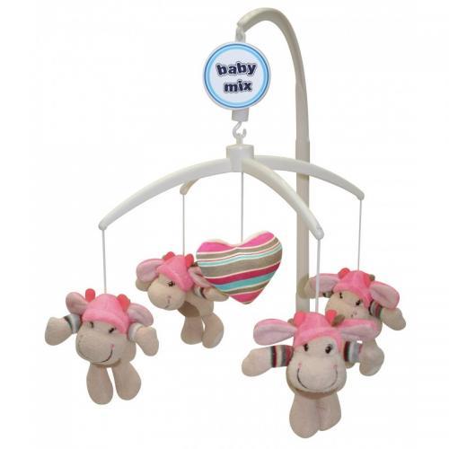 Каруселька с плюшевыми игрушками BabyMix Валентинка Арт.332М