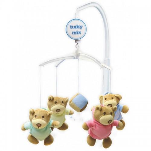 Каруселька с плюшевыми игрушками BabyMix Мишки в штанишках Арт.709