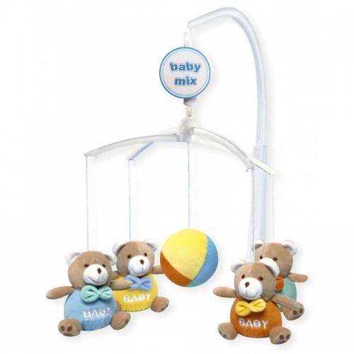 Каруселька с плюшевыми игрушками BabyMix Мишки baby Арт.715