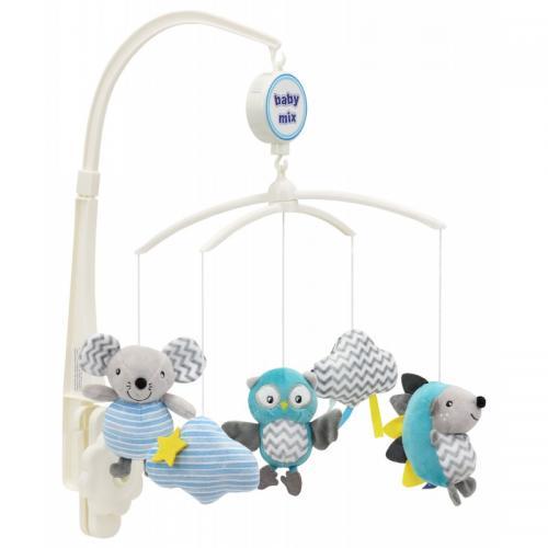 Каруселька с плюшевыми игрушками BabyMix Три друга Арт.470М