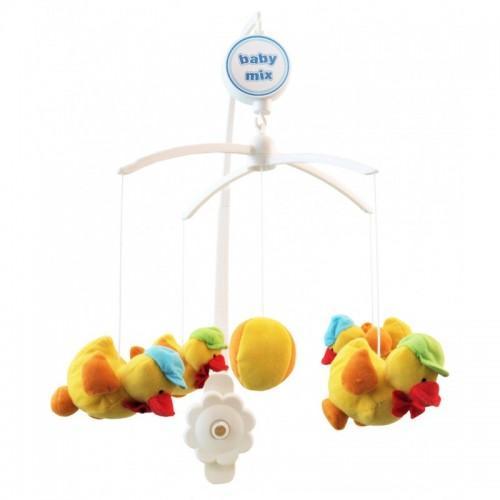 Каруселька с плюшевыми игрушками BabyMix Цыплята Арт.312