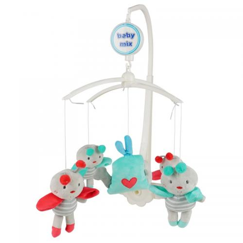Каруселька с плюшевыми игрушками BabyMix Полосатые пчёлки Арт.K/486М
