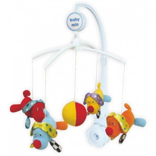 Каруселька с плюшевыми игрушками BabyMix Собачки Арт.348