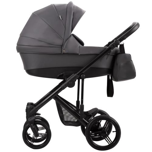 Детская модульная коляска Bebetto Magnum Prima (100% ЭКОКОЖА) 2 в 1
