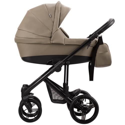 Детская модульная коляска Bebetto Magnum Prima (100% ЭКОКОЖА) 3 в 1
