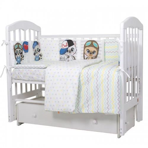 Детское постельное белье Топотушки Мальчики 6 предметов