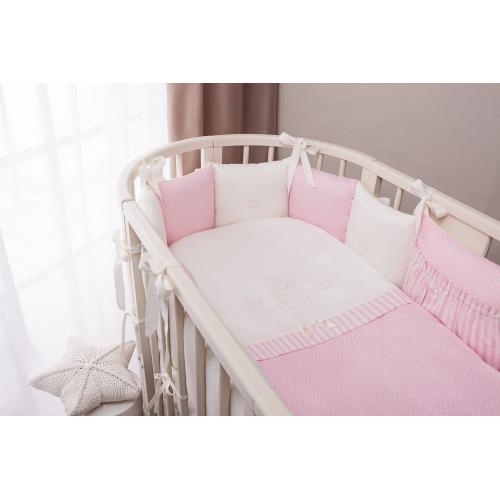 Детское постельное белье Perina Неженка Oval (розовый)