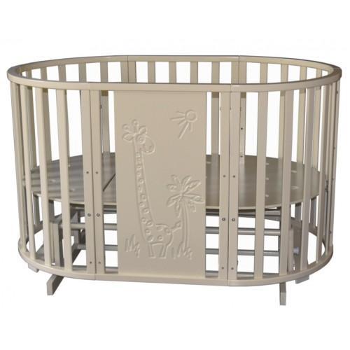 """Детская кроватка с универсальным маятниковым механизмом RAY (КЕДР) Luiza-2 """"Giraffe"""""""