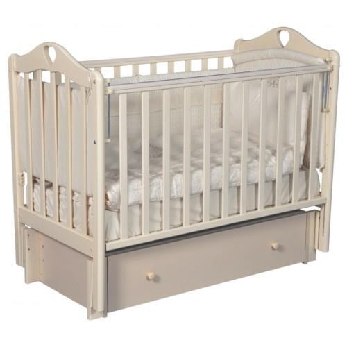 Детская кроватка с универсальным маятниковым механизмом RAY (КЕДР) Grace-3