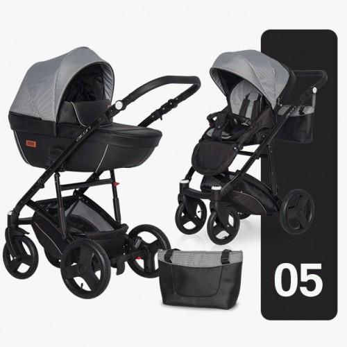 Детская модульная коляска Riko AICON Pro 3 в 1