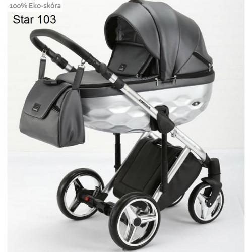 Детская модульная коляска Adamex Chantal Star Eco 2 в 1
