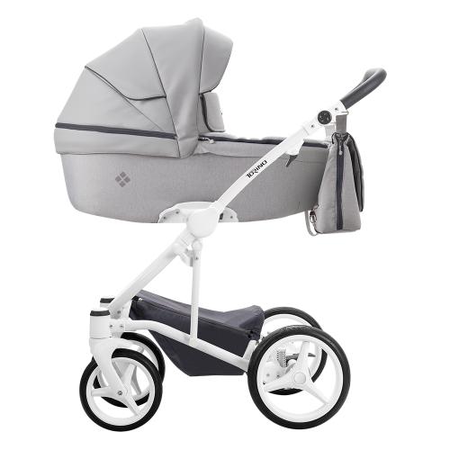 Детская модульная коляска Bebetto Torino 3 в 1 (ЭКОКОЖА+ТКАНЬ)