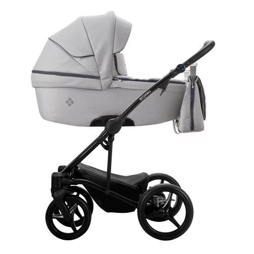 Детская модульная коляска Bebetto Torino 2 в 1 (ЭКОКОЖА+ТКАНЬ)