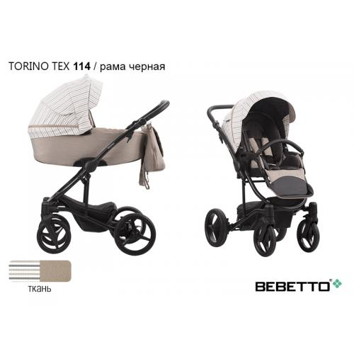 Детская модульная коляска Bebetto Torino TEX 3 в 1
