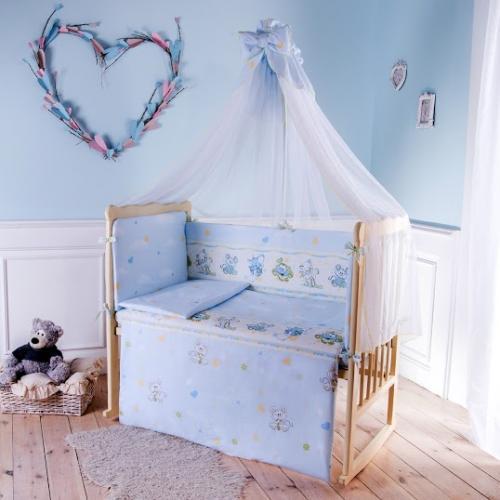 Комплект детского постельного белья Баю-бай Улыбка 6 предметов