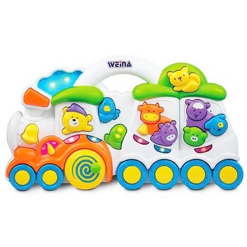 Детская игрушка Поезд со зверятами Weina