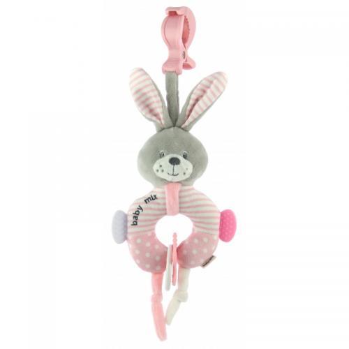 Подвесная игрушка BabyMix Зайка кольцо
